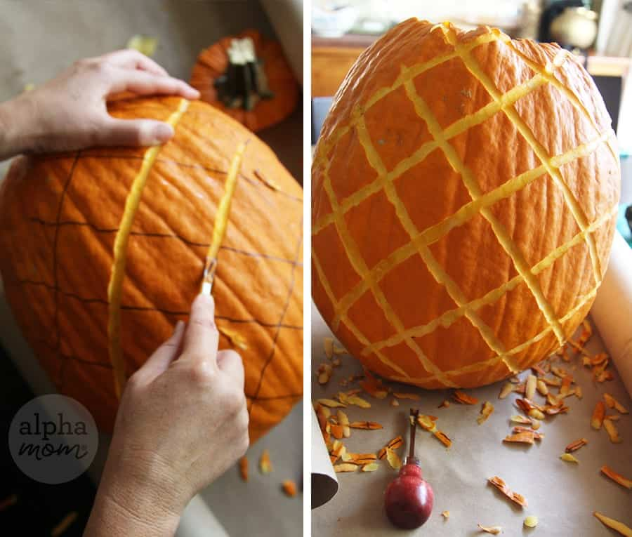 3D Pineapple Jack o' Lantern Carving Tutorial (how-to) by Brenda Ponnay for Alphamom.com