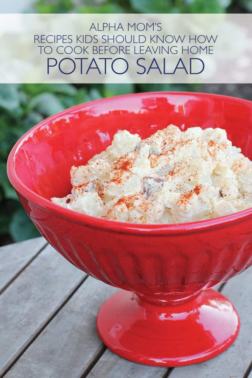 How to Make Potato Salad (in Serving Bowl with Sprinkled Paprika)
