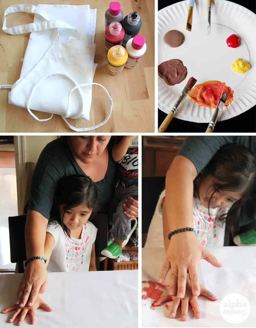 DIY Finger Painting Turkey Apron for Thanksgiving (How-To) by Brenda Ponnay for Alphamom.com