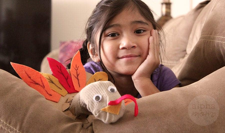 DIY Turkey Sock Puppets for Thanksgiving