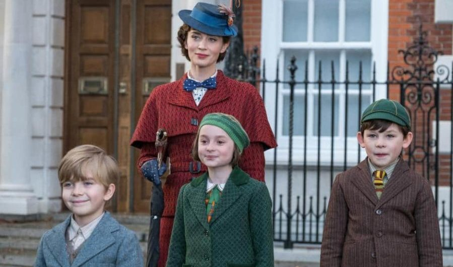 Mary Poppins Returns Movie Scene with Emily Blunt and kids