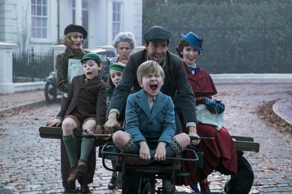 Mary Poppins Returns Movie Scene with Lin-Manuel Miranda
