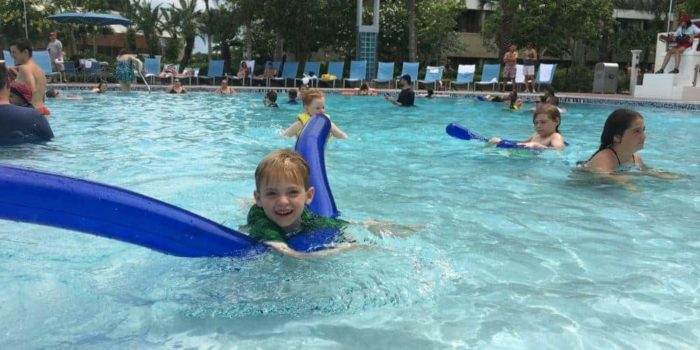 Disney World Resort and Kids Free Pool Time