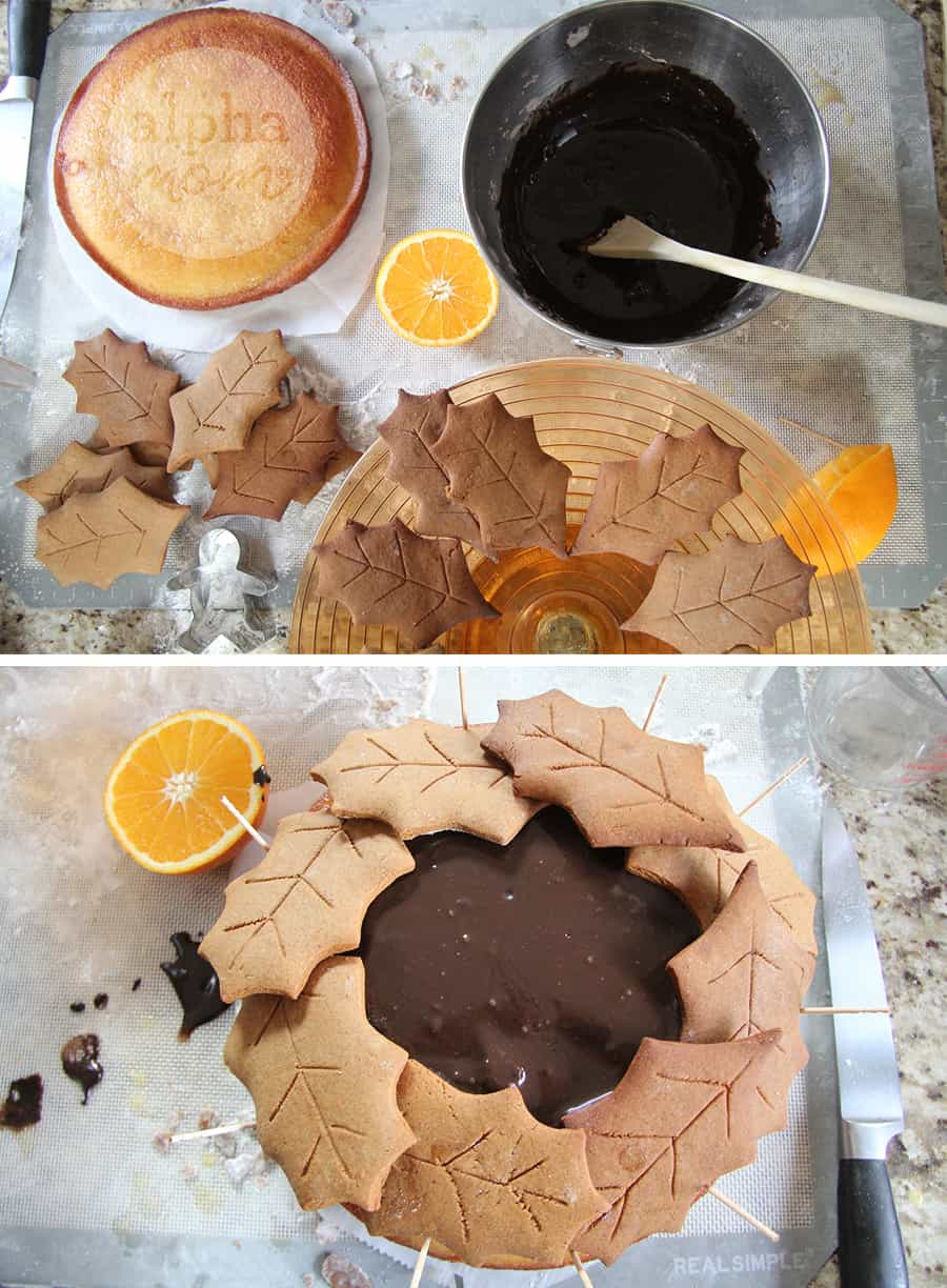 Assembling a Gingerbread Wreath Cake