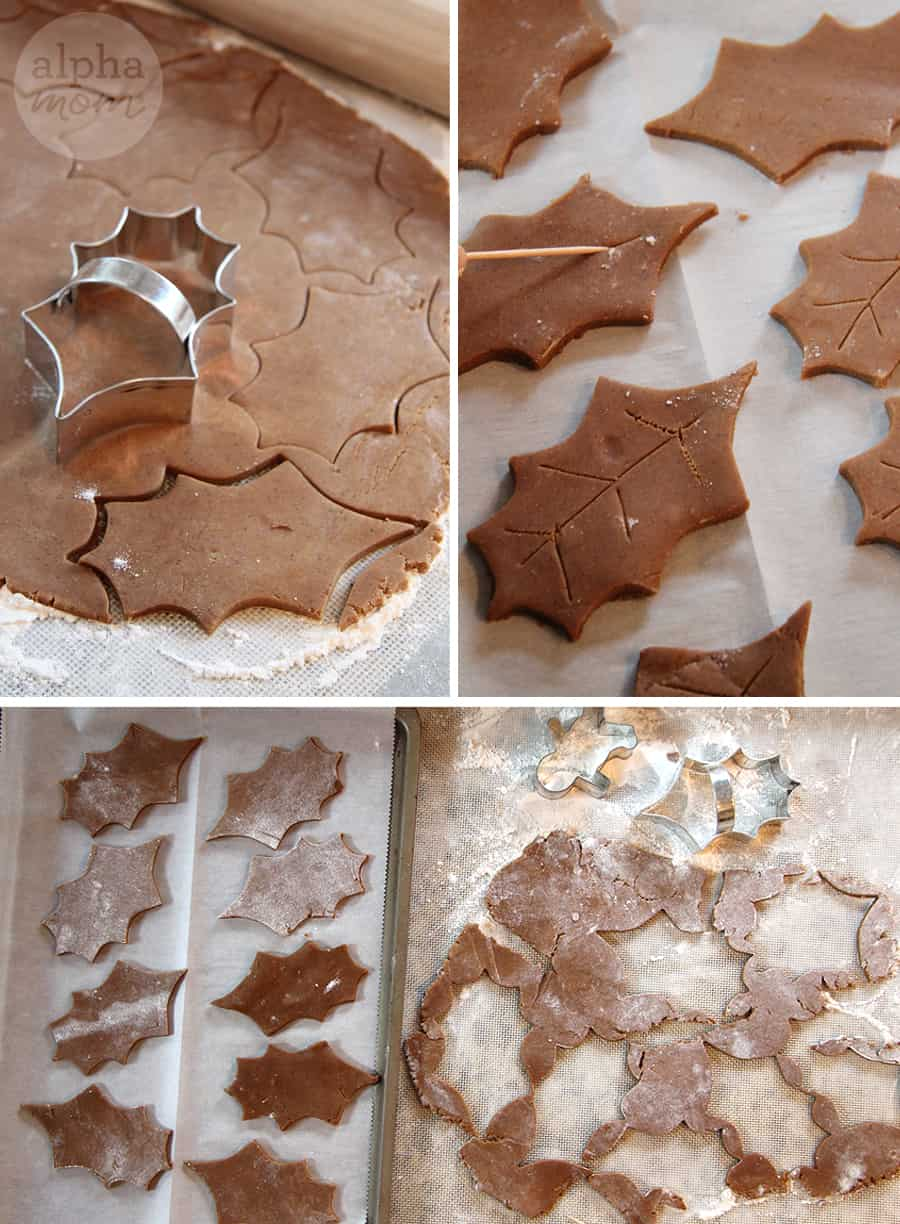 Gingerbread leaf cookies DIY