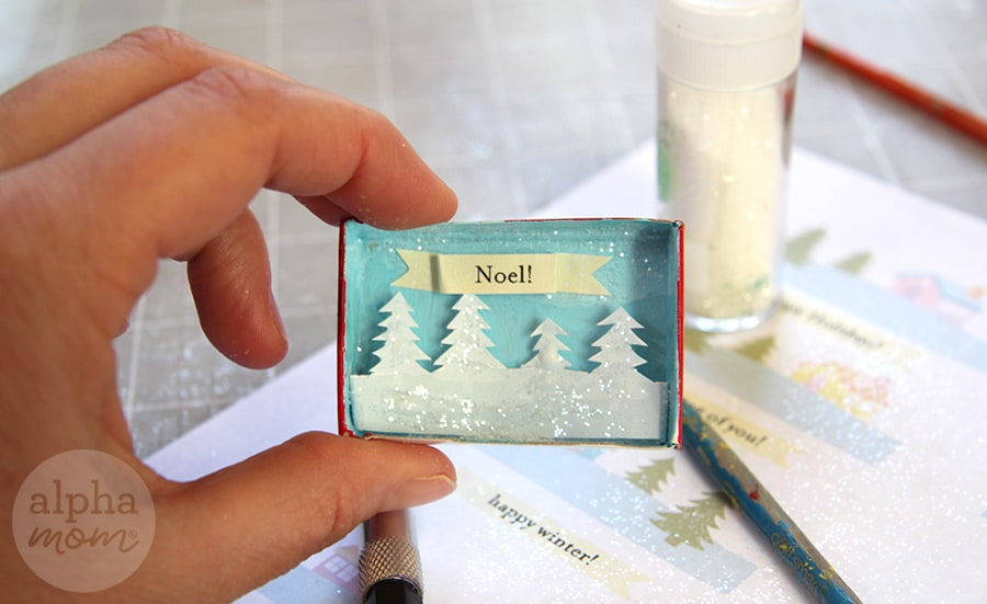 Tiny Holiday Matchbox Greetings and Place Cards by Brenda Ponnay