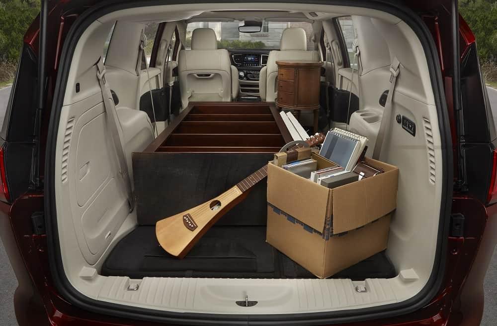 Inside of a minivan Fiat Chrysler