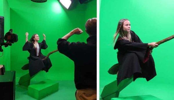 Green Screen at Harry Potter Studios UK