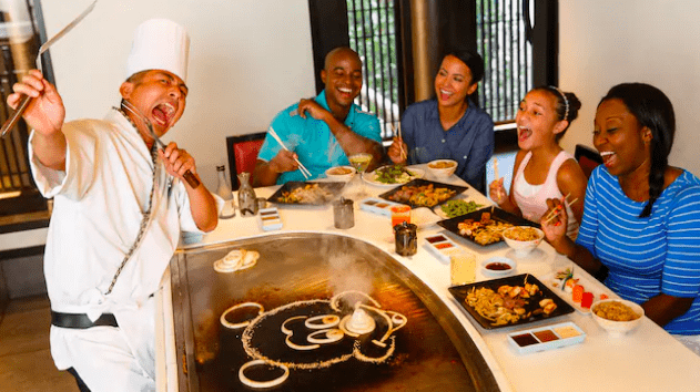 Dining at Teppan Edo Epcit Disney World Orlando