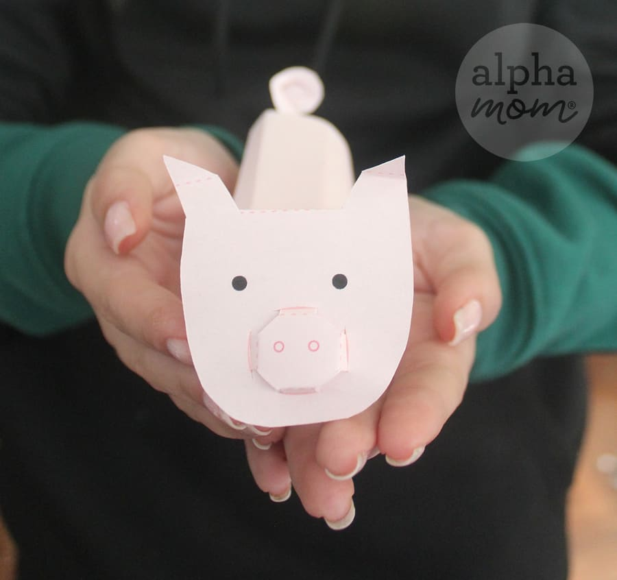 3D paper pig