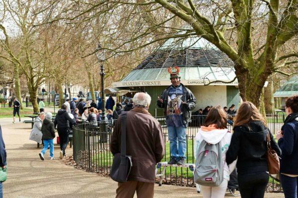 Speakers Corner in Hyde Park London