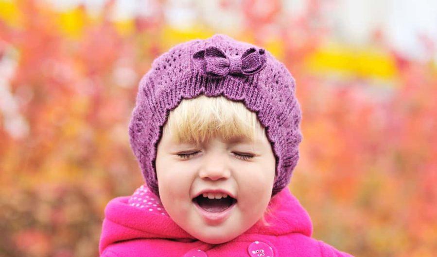 Toddler Girl Expressing Emotion