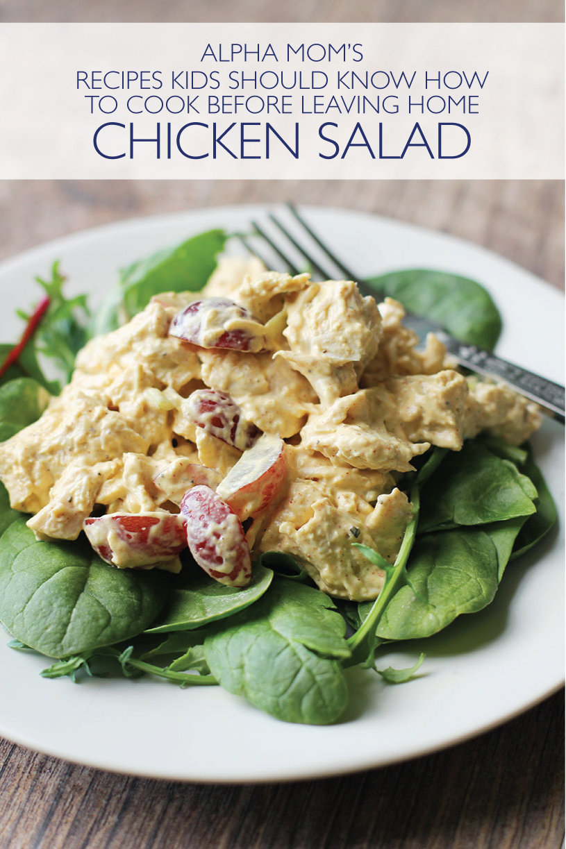 Chicken Salad served on lettuce, recipes kids should know