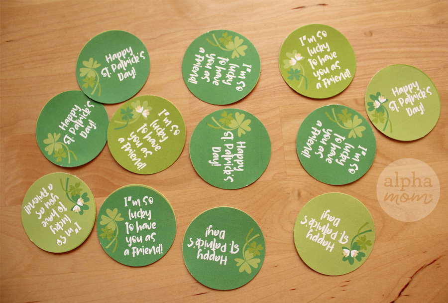 St. Patrick's Day toppers for plant pot sticks and cupcakes