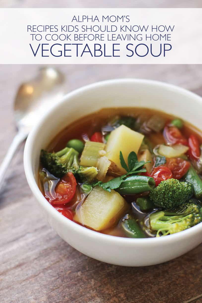 Vegetable Soup serving in a bowl