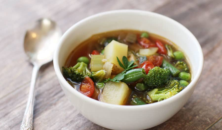 picture of homemade vegetable soup