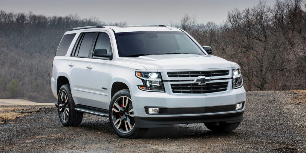 photo of white 2019 Chevrolet Tahoe