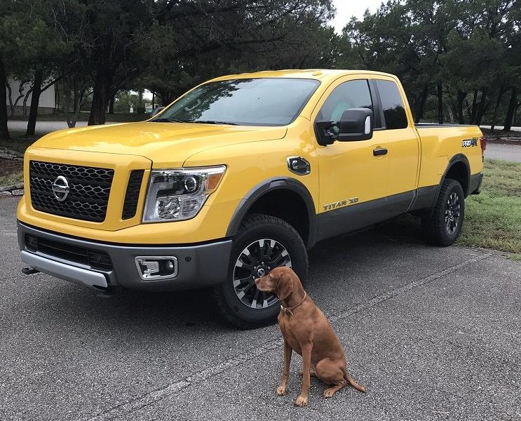 photo of yellow 2019 Nissan Titan XD