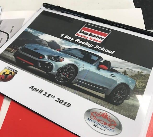 Skip Barber Racing School pamphlet