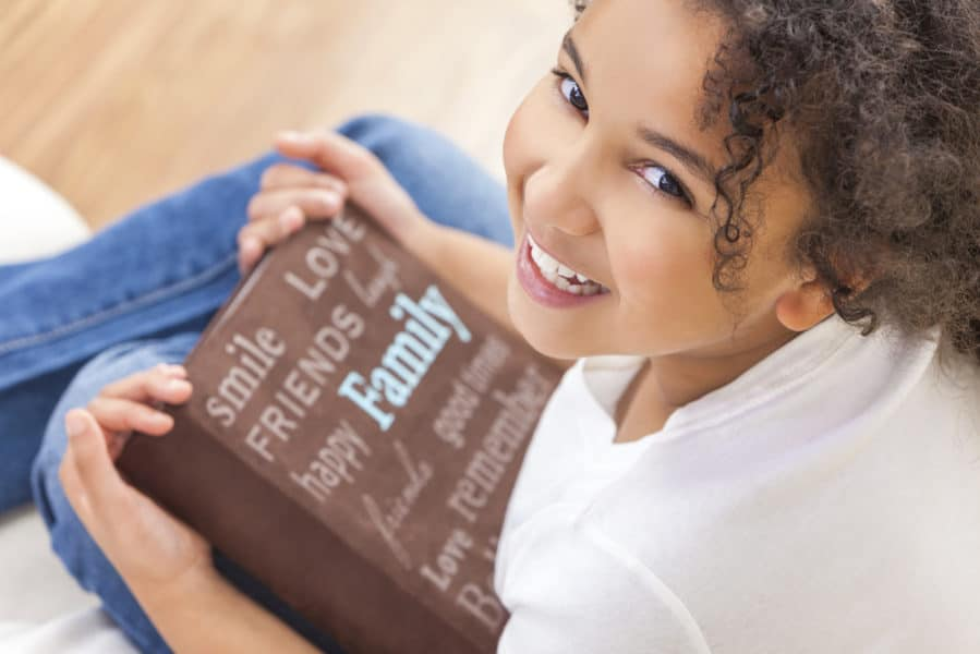 African American Girl Child Book Photo Album