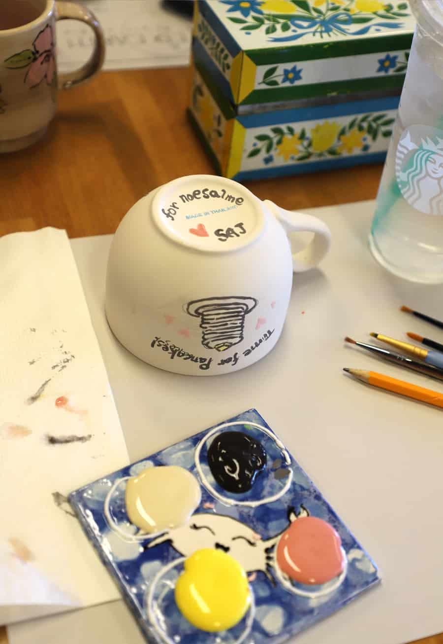 Custom Painted Pottery Gifts Best Keepsakes Alpha Mom
