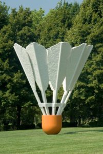 Picture of the Shuttlecocks sculpture by Claes Oldenburg Nelson Atkins museum