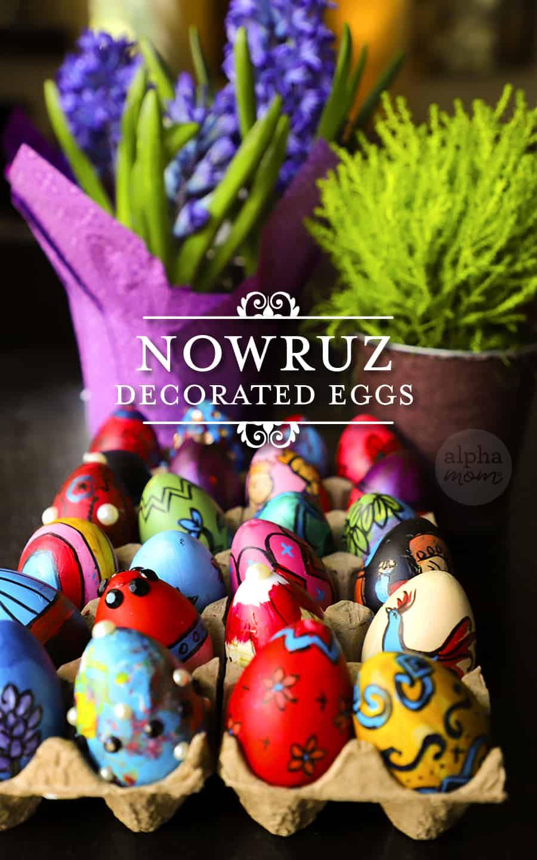 tray of Nowruz eggs