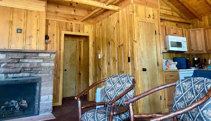 cabin living room at the YMCA of the Rockies Estes Park Center in Colorado