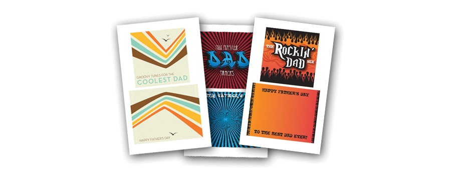 illustrations of CD cover printables for Father's Day crafts
